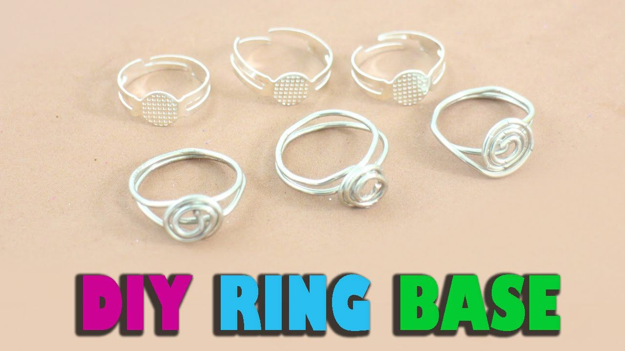 DIY Homemade Ring Base - Jewelry Crafts | Craft, Homemade jewelry ...