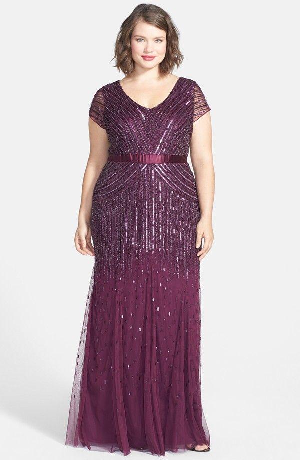 Embellished Mesh Gown (Plus Size) | Plus size clothing | Pinterest ...