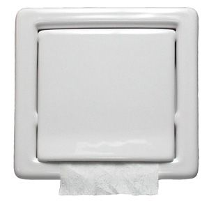 In Wall Toilet Paper Holder toilet paper holder | recessed white 740664 | architectural