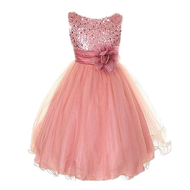 Summer flower ball gowns kid dress party for 3-8 years girls clothes ...