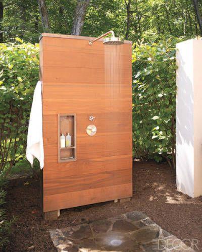 A Cedar-Clad Shower