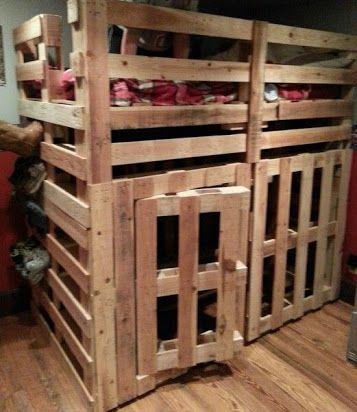 Diy Pallet Bunk Bed Google Search Pallet Loft Bed Pallet Bunk