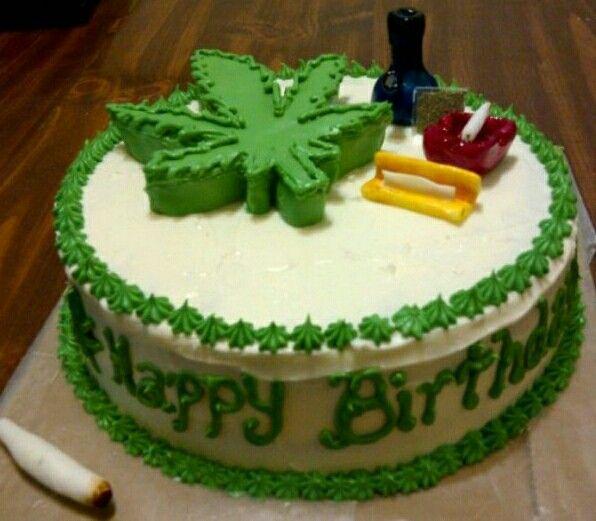 Weed #HappyBirthday #Cake.