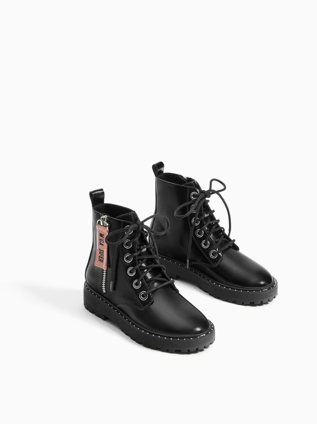 cad5591e4d7 Image 2 of LACE-UP ANKLE BOOTS WITH MINI STUDS from Zara | kid's in ...