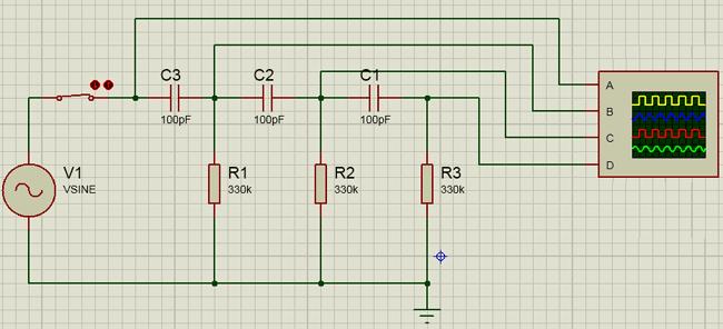 RC Oscillator Circuit Simulation using Proteus | Electronic Circuits