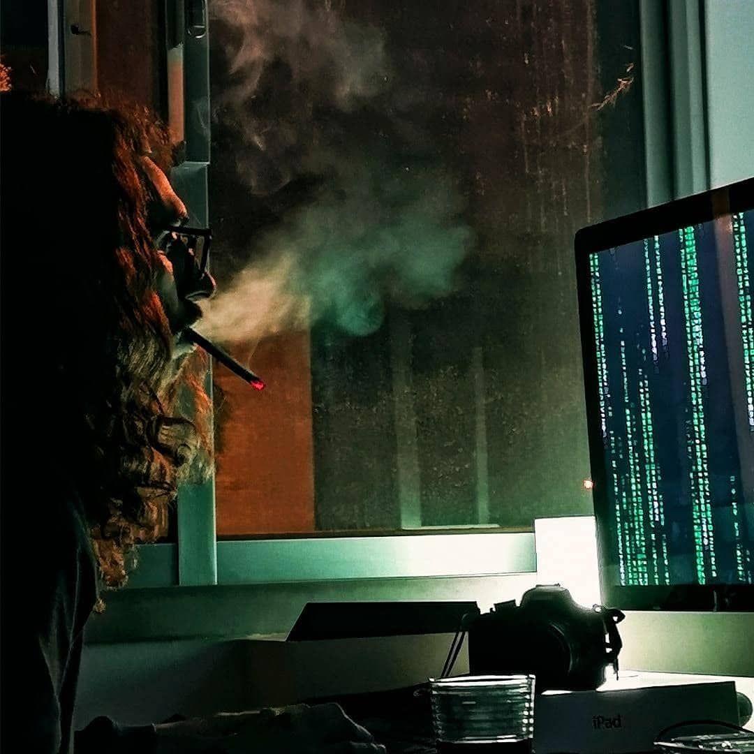 Hackerman Hackerman Synthwave 80s Vintage Green Hackerman