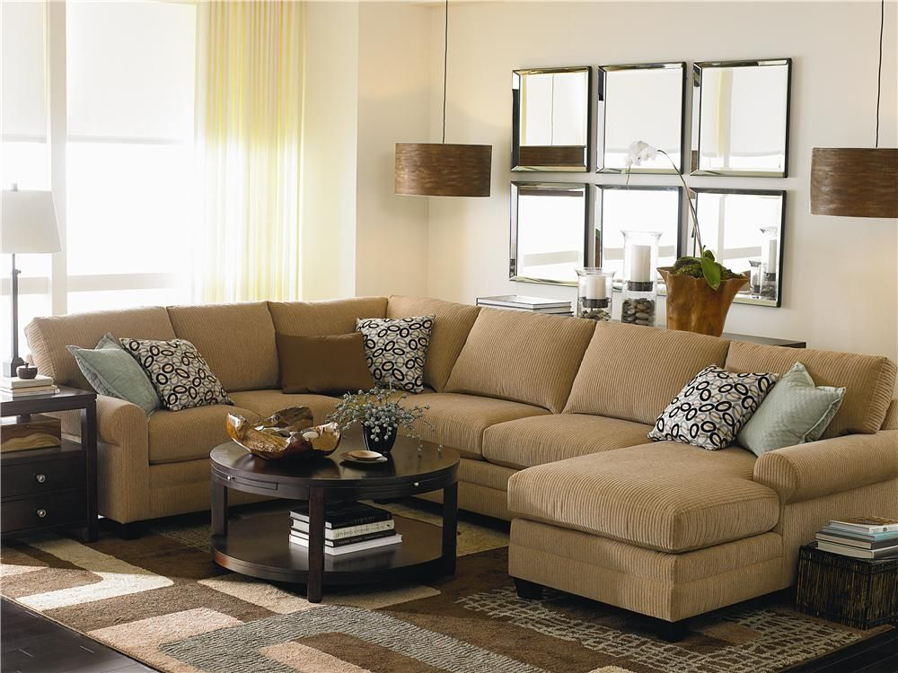 U Shaped Stationary Sectional Group   By Bassett   Wilcox Furniture   Sofa  Sectional Corpus Christi, Kingsville, Calallen, Texas. Not Fond Of The  Color Tho