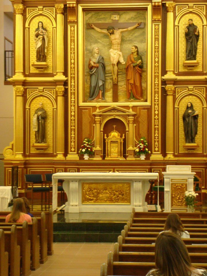 . shrine chapel of Our Lady of Corpus Christi, with its beautiful golden