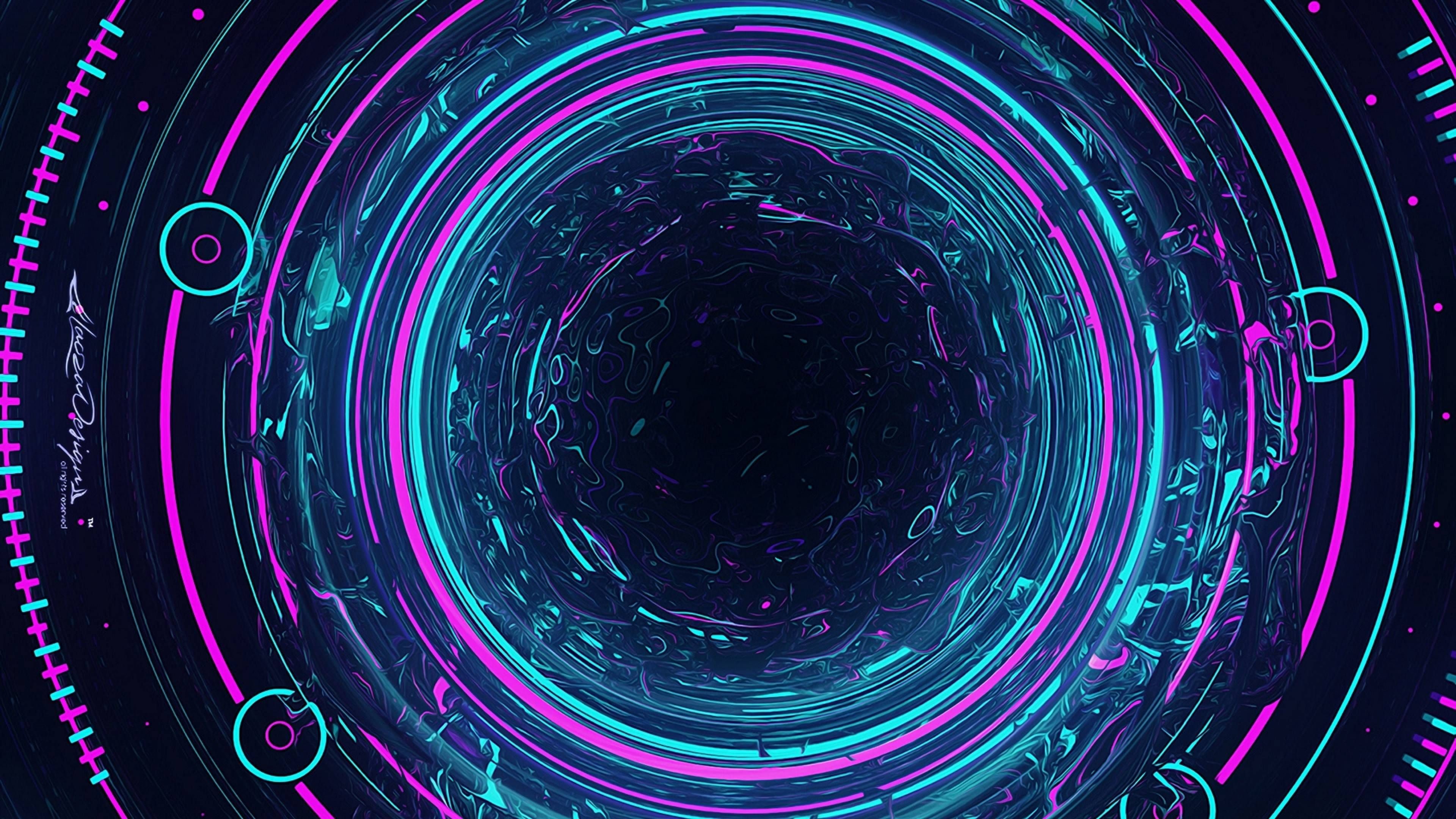 Circles 4k Wallpaper 3840 X 2160 In 2020 Purple Wallpaper Black And Blue Wallpaper Ultra Hd 4k Wallpaper