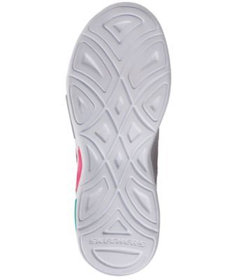 Skechers Little Girls Shimmer Beams Stay Put Closure Casual