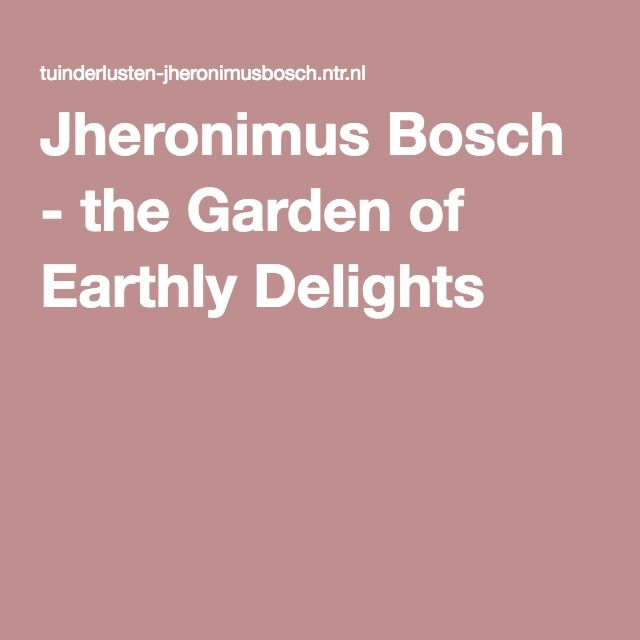 Jheronimus Bosch - the Garden of Earthly Delights