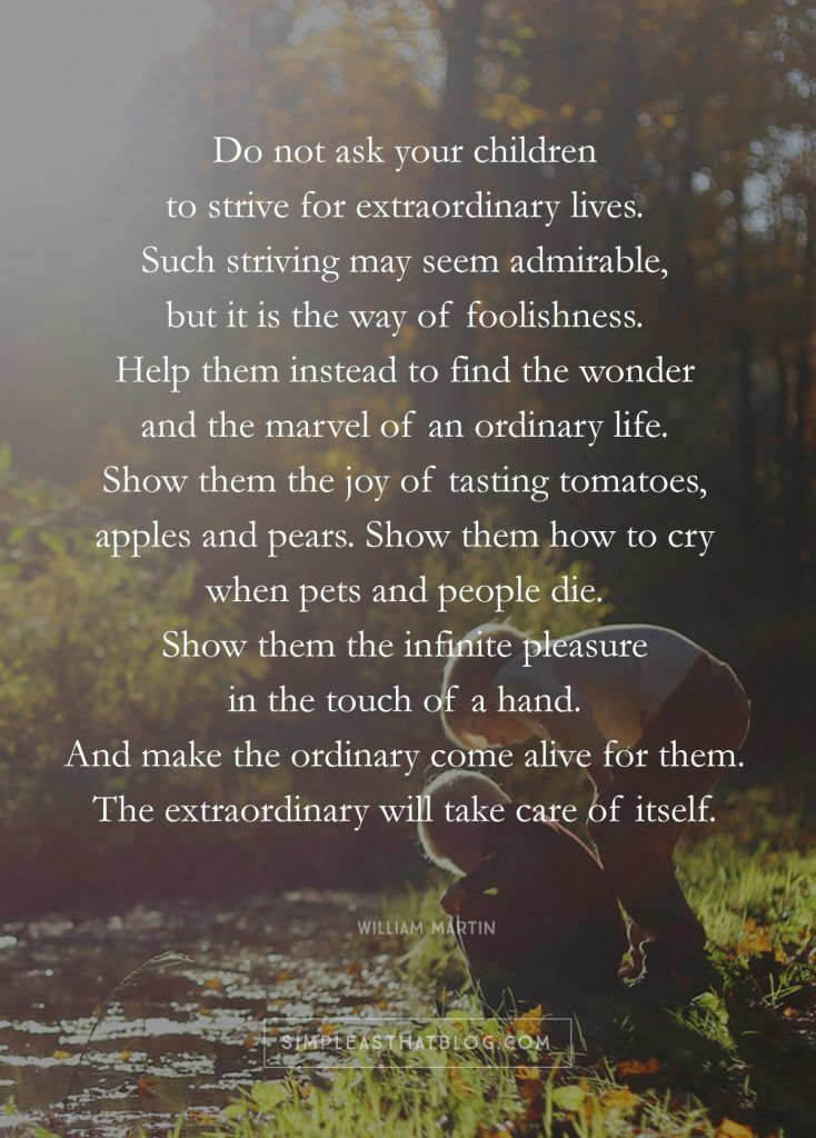 What if all I want for my kids is an ordinary life? Life