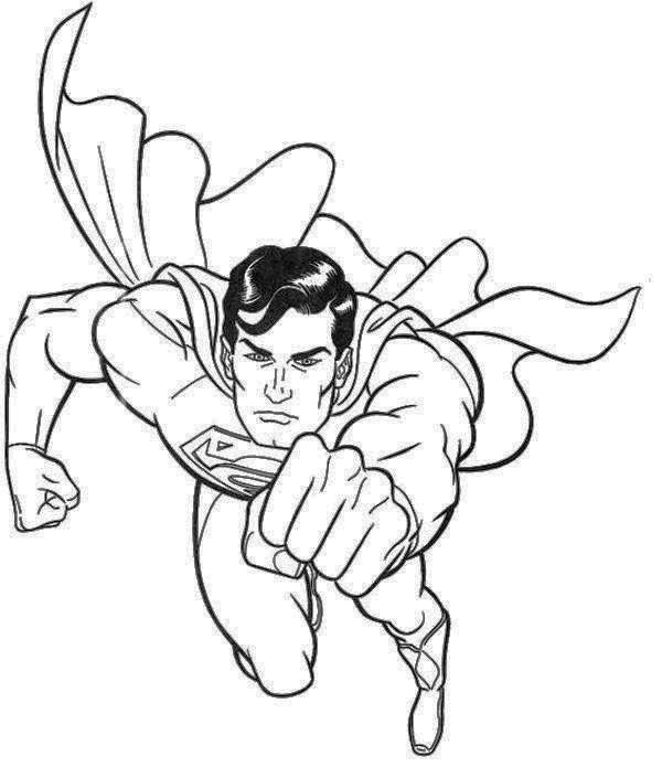 Handsome Superman Coloring Page | Superman | Pinterest | Coloring books