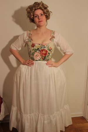 1750s layering  night gown dresses i dress