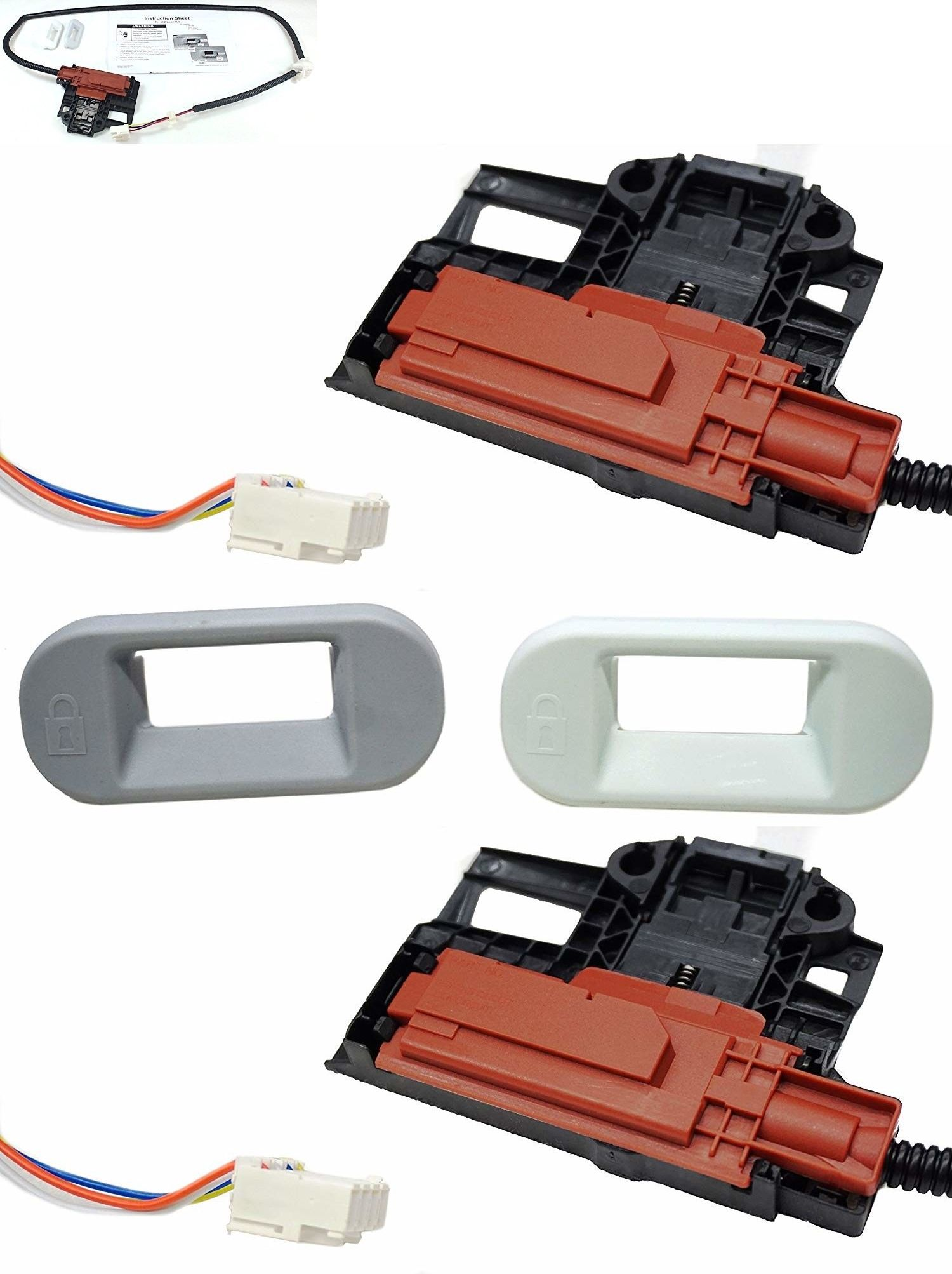 Parts And Accessories 99697 Washer Door Latch Assembly Kit Lid Lock Switch Whirlpool Kenmore Roper Maytag Buy It Now Only 26 55 Door Latch Kenmore Maytag