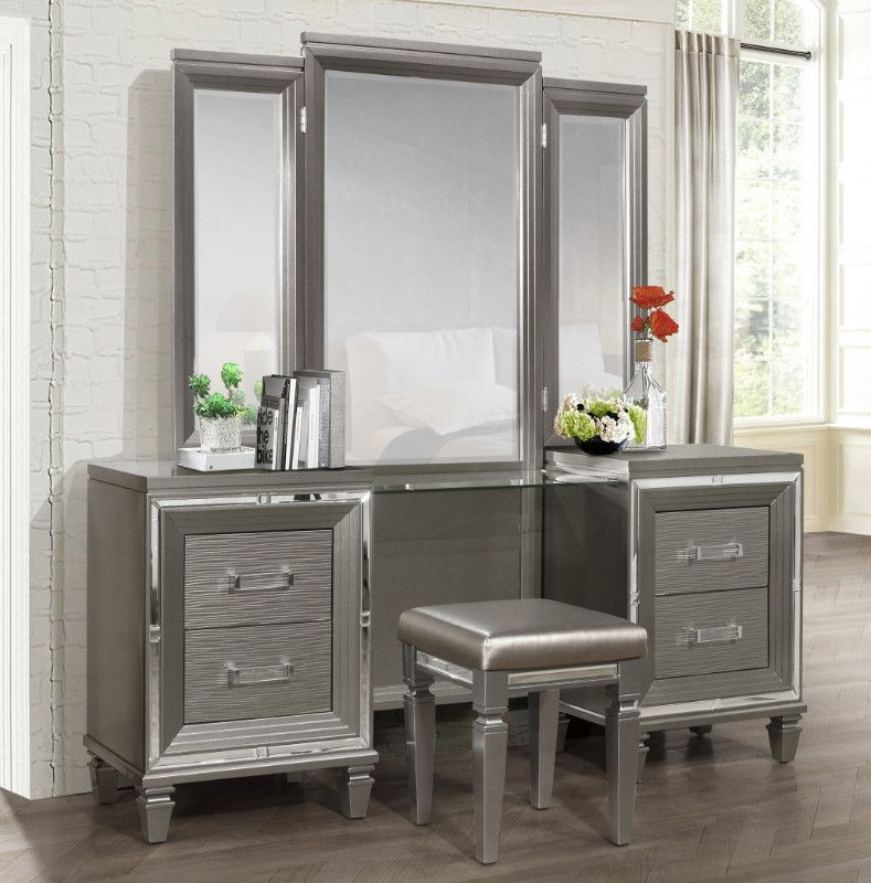 Homelegance 1616 14 15 3 Pc Allura Gray Finish Wood Bedroom Make