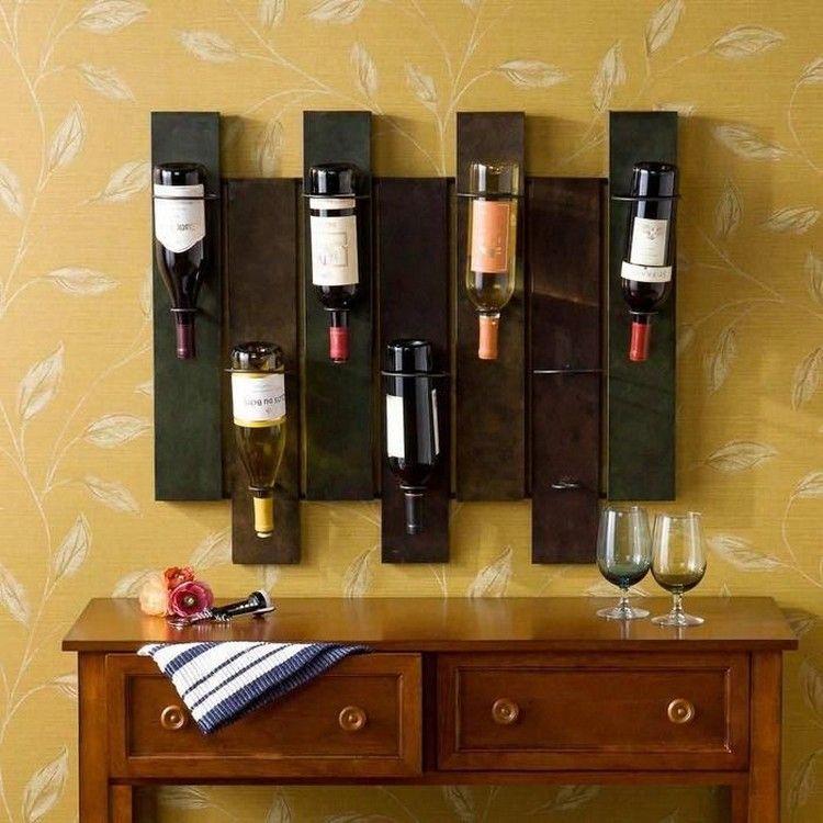 pallet wall wine rack. DIY Wood Pallet Wine Rack Wall