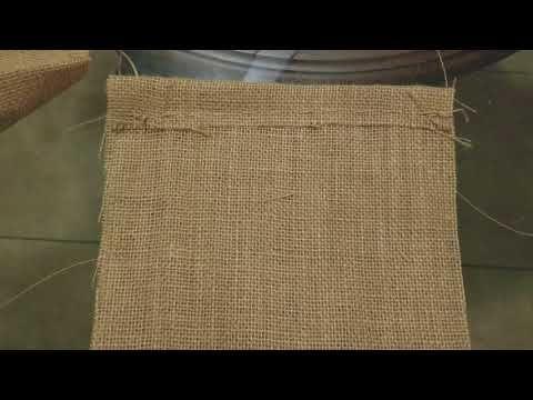 Como hacer bolsas para dulces sin máquina de coser. Saquito de yute  – Bolsa