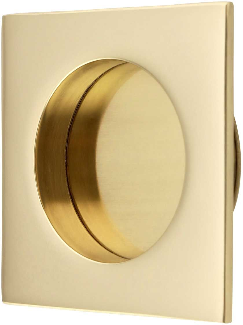 Square Pocket Door Flush Pull With Round Bore In 2020 Pocket Doors Pocket Door Hardware Pocket Door Pulls
