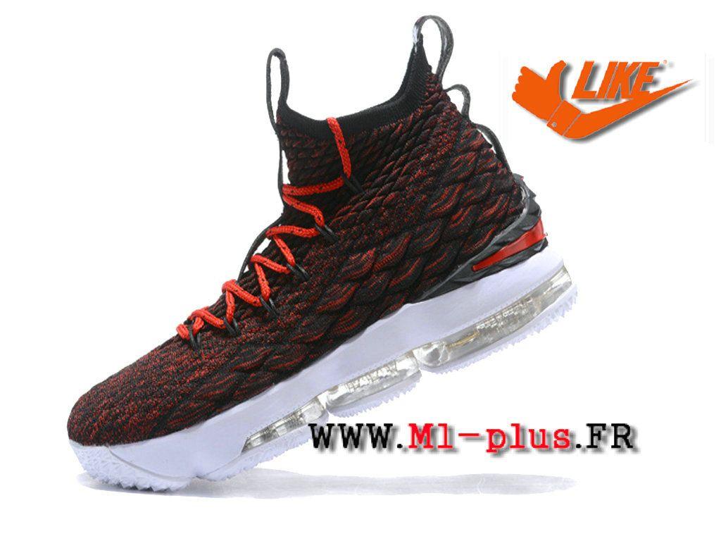 Nike Lebron 15 Xv Officiel 2018 Rouge Noir Chaussures Nike Prix Pas