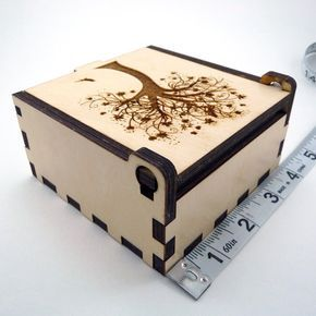 Tree of Life Jewelry Box Wood Trinket Box Small Jewelry Case