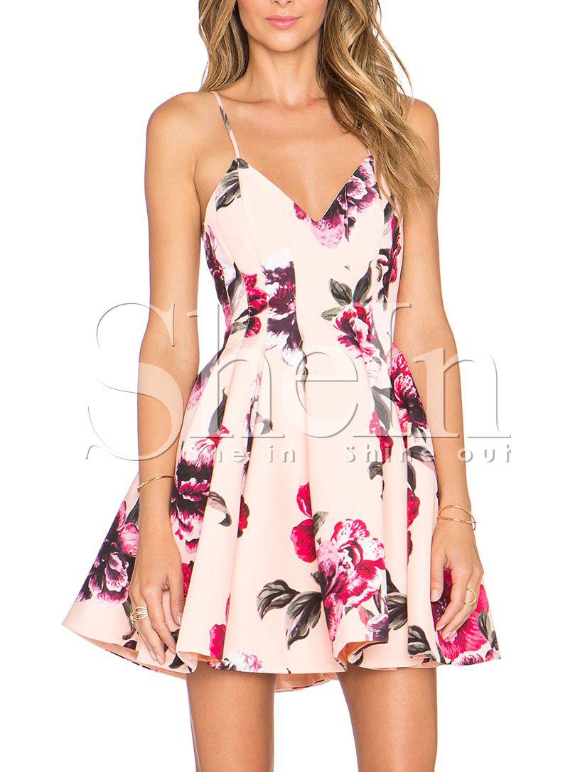 rückenfreies Kleid mit Blumenmuster-rosa 18.18 (mit Bildern