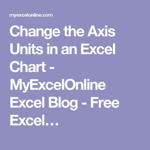 Change the axis units in an excel chart myexcelonline excel blog change the axis units in an excel chart myexcelonline excel blog free excel ccuart Gallery