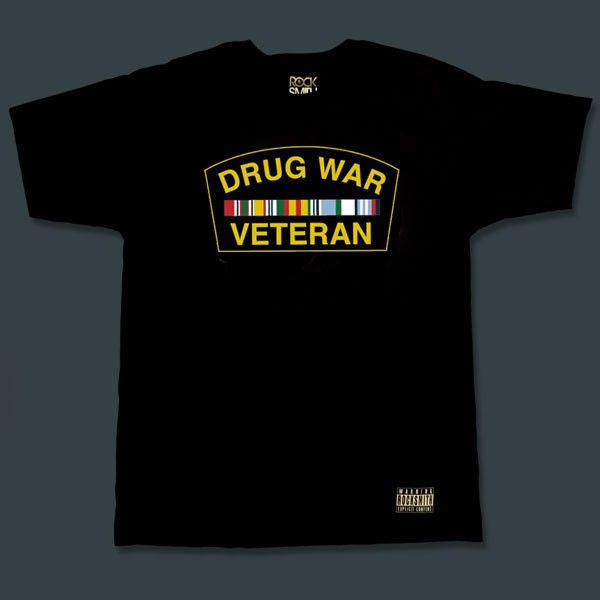 This needs to go on a crested navy style snapback cap.  Drug War Veteran   T-Shirt 937358652463