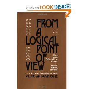 From A Logical Point Of View Nine Logico Philosophical Essays Second Revised Edition Logic Essay Book Worth Reading
