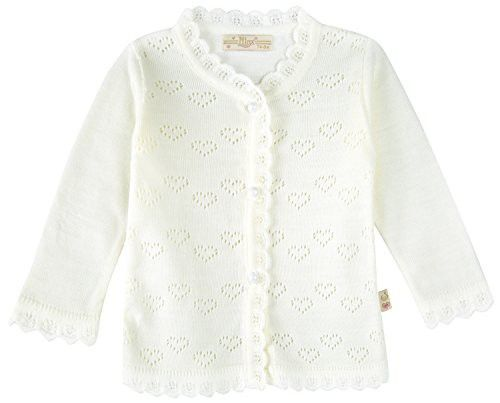 b6450d9f391aef Lilax Baby Girls  Little Hearts Knit Cardigan Sweater 3M Cream ...
