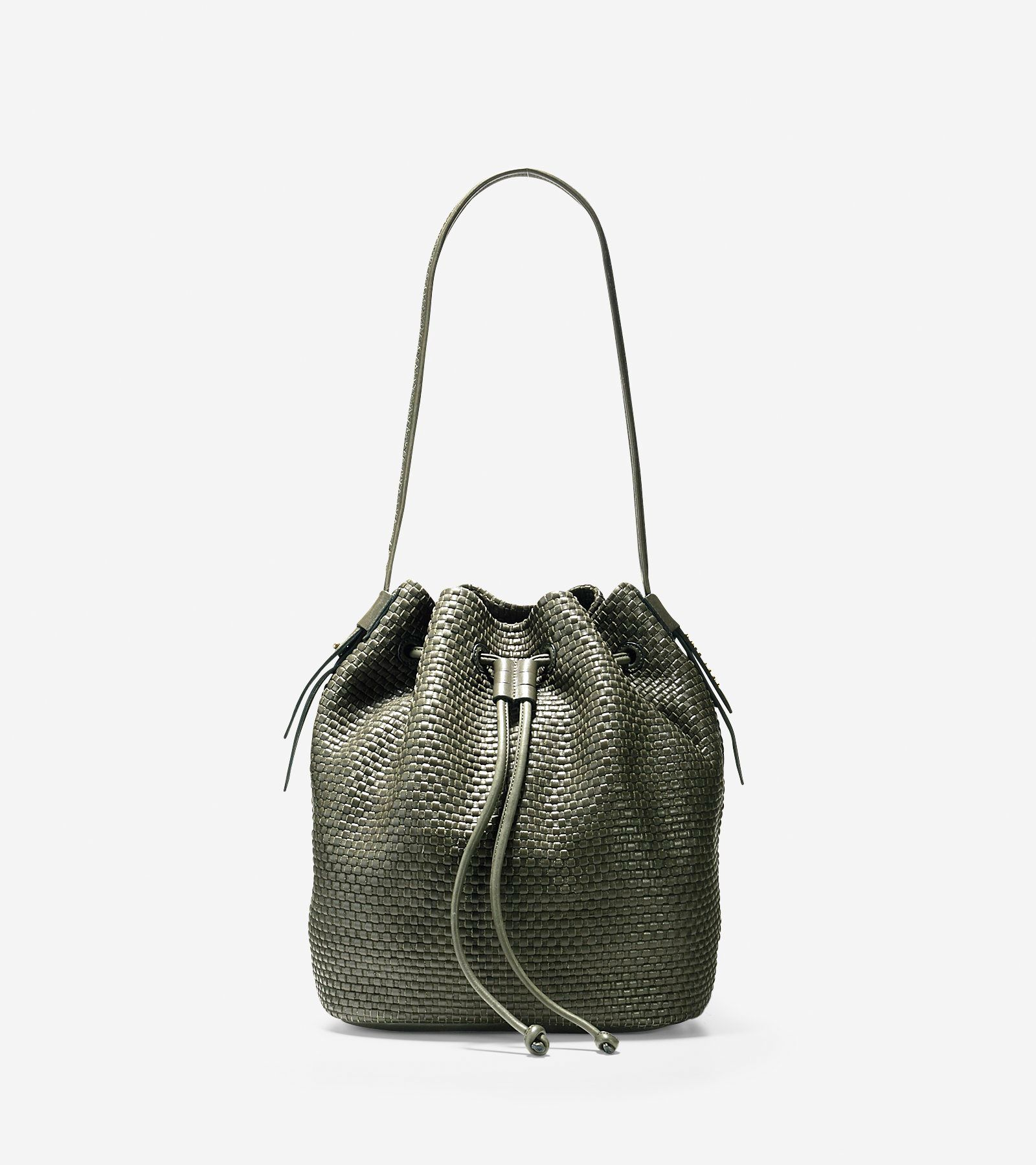 172d54d0ff8e Discover the bethany weave drawstring hobo in fatigue at Cole Haan and shop  our full collection of women s handbags and accessories.