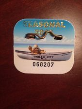 2016 Ocean City New Jersey Seasonal Beach Tag Badge Nj Beaches