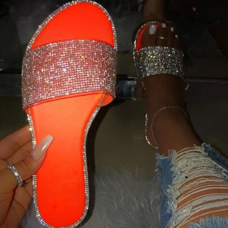 Women Casual Sandals Fashion Sequins Sandals Ankle Mid Heel Block Party Open Toe Flip Flop Sandals Memela