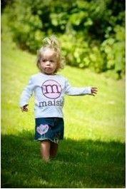 Personalized Girls or Boys Tee- so cute