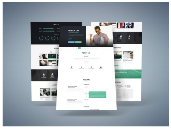 Free Resume Psd Website Template   Free Resume Psd Website