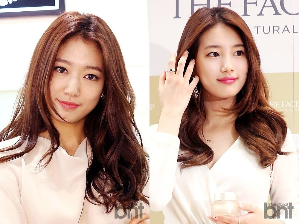 Double Take Suzy And Park Shin Hye Look Like Twins At Separate Cf Events This Week Park Shin Hye Events This Week Double Take