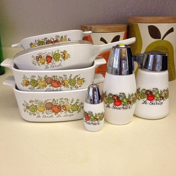 Vintage Corningware Spice of Life 7 Piece Bakeware by