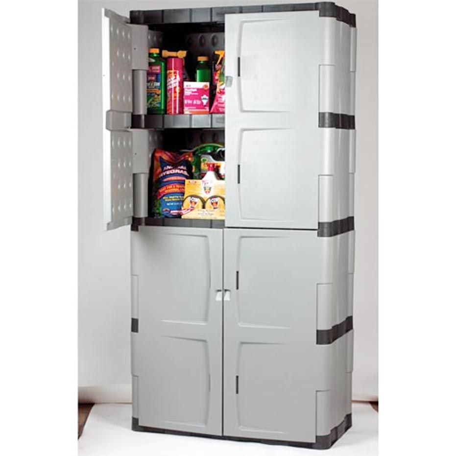 Classic Plastic Storage Cabinets With Doors Design