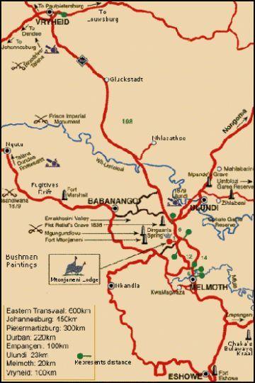 Natal South Africa Map.Map Mtonjaneni Lodge In Melmoth Zululand Kwazulu Natal South Africa