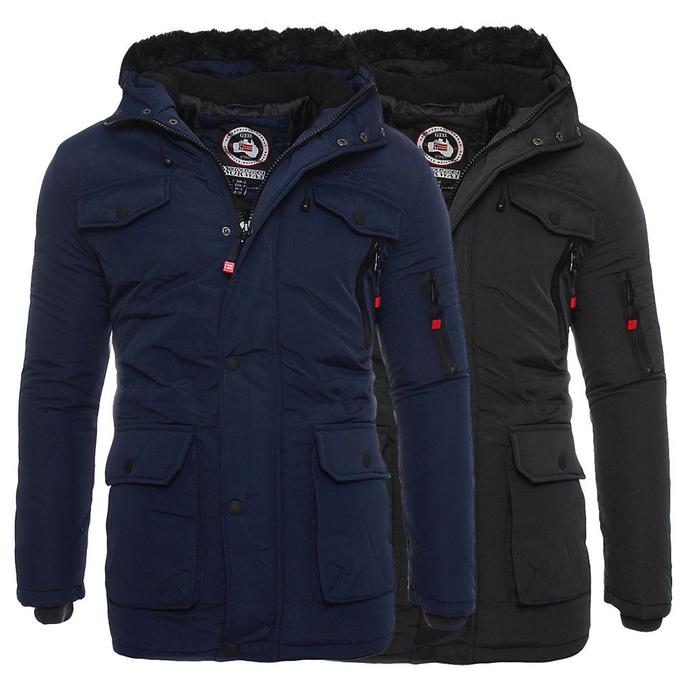 geographical norway giacca invernale da uomo parka parker alos