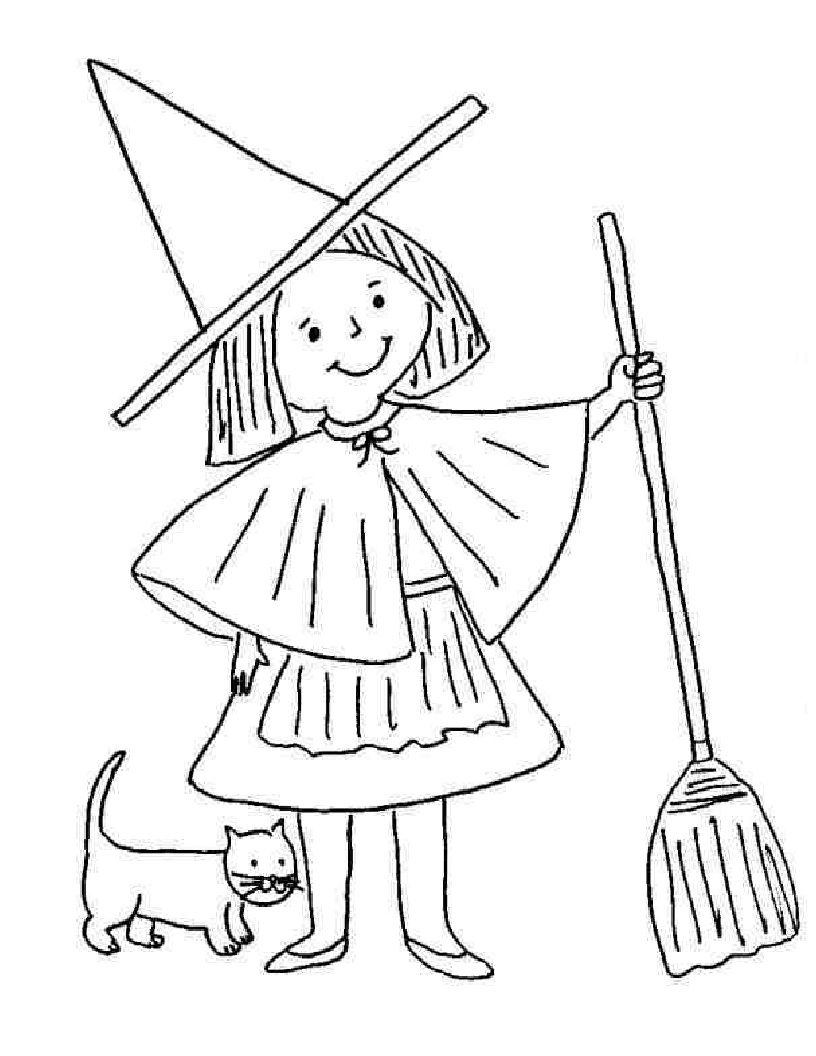 Pin By Stephanie Wijnen On Hal Games Coloring Witch Coloring Pages Halloween Coloring Pages Cat Coloring Page