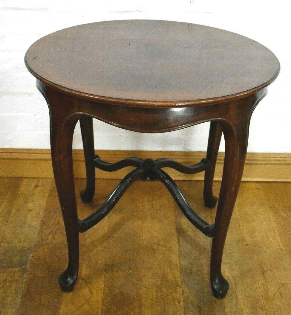 Antique Vintage Round Lamp Table Side Occasional Table Centre Display Table Round Lamp Table Furniture Center Table [ 1053 x 974 Pixel ]