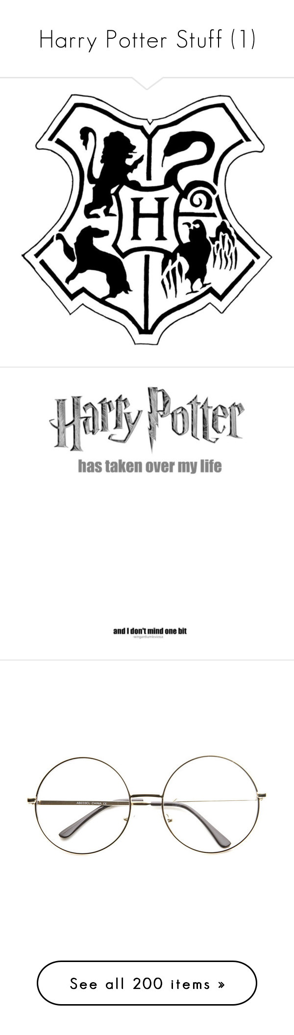 """Harry Potter Stuff (1)"" by smokenhothyde ❤ liked on Polyvore featuring harry potter, fillers, hogwarts, doodles, phrase, quotes, saying, text, sayings and accessories"
