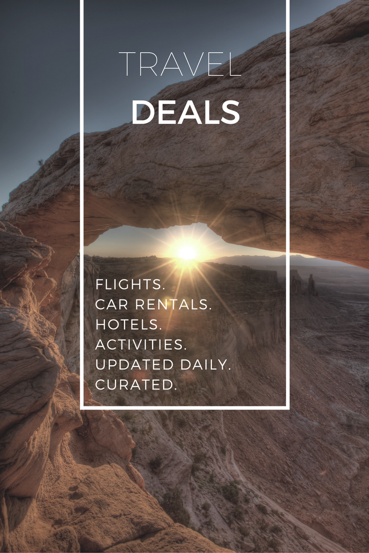 Regularly updated with the best curated travel deals curated. Contains deals for flights, hotels, car rental, activities, and more! via @goawesomplaces
