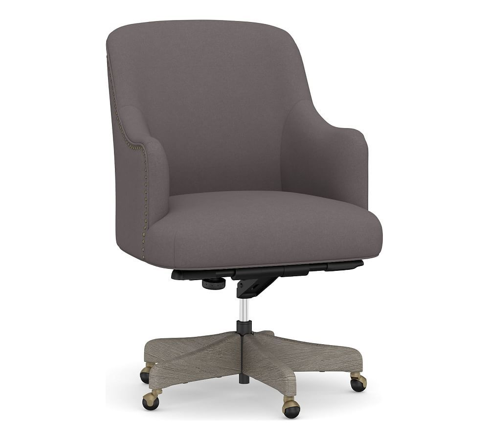 Reeves Upholstered Swivel Desk Chair Upholstery Fabric For