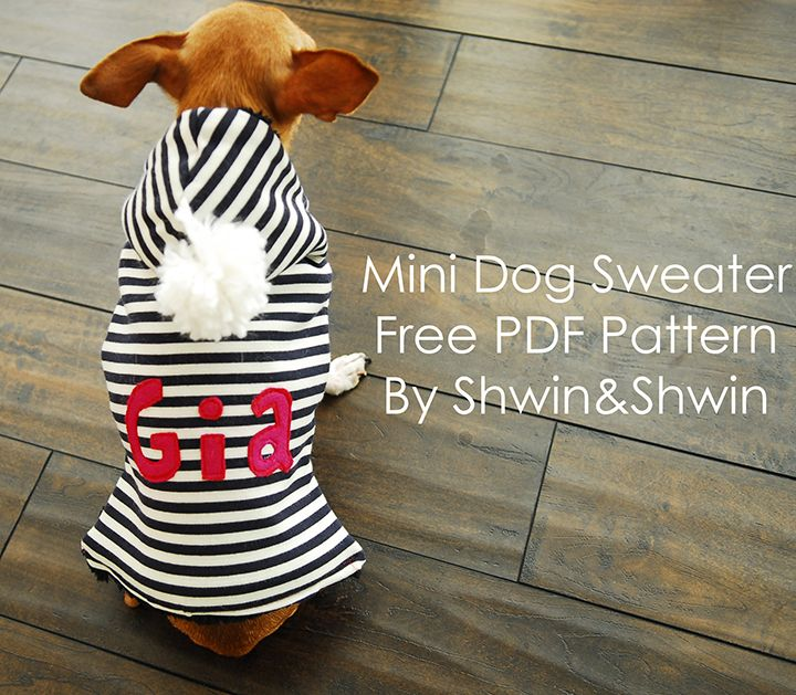 Mini Dog Sweater | Mini dogs, Pdf and Dog
