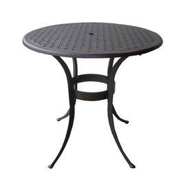 Terrific Garden Treasures Ashcreek Aluminum Round Patio Bar Height Lamtechconsult Wood Chair Design Ideas Lamtechconsultcom