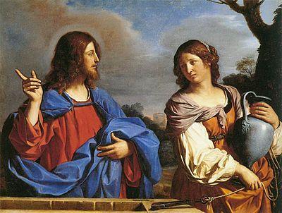 Jesus e a Samaritana por Guercino - 1640- 41
