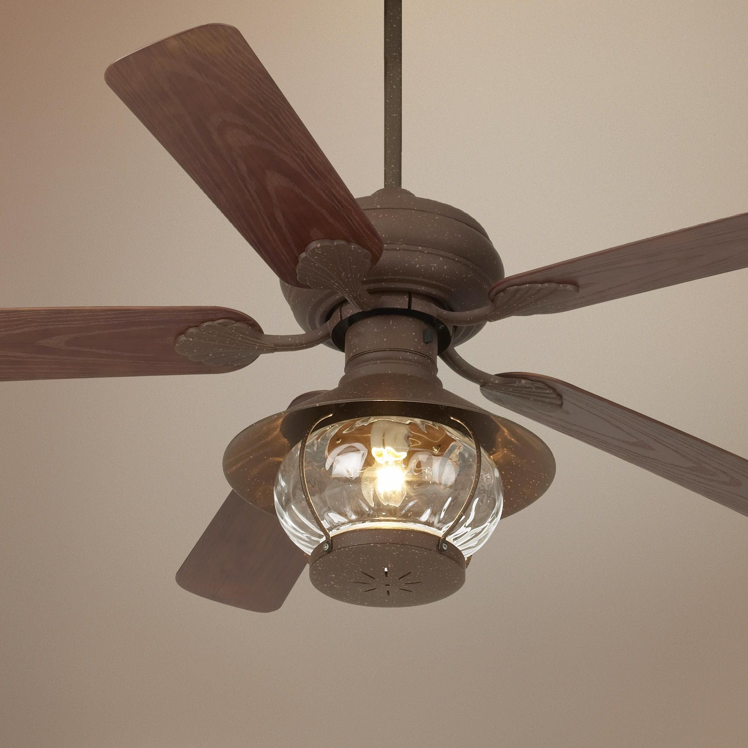 Lantern Style Ceiling Fan Intended For 89 Astounding Rustic