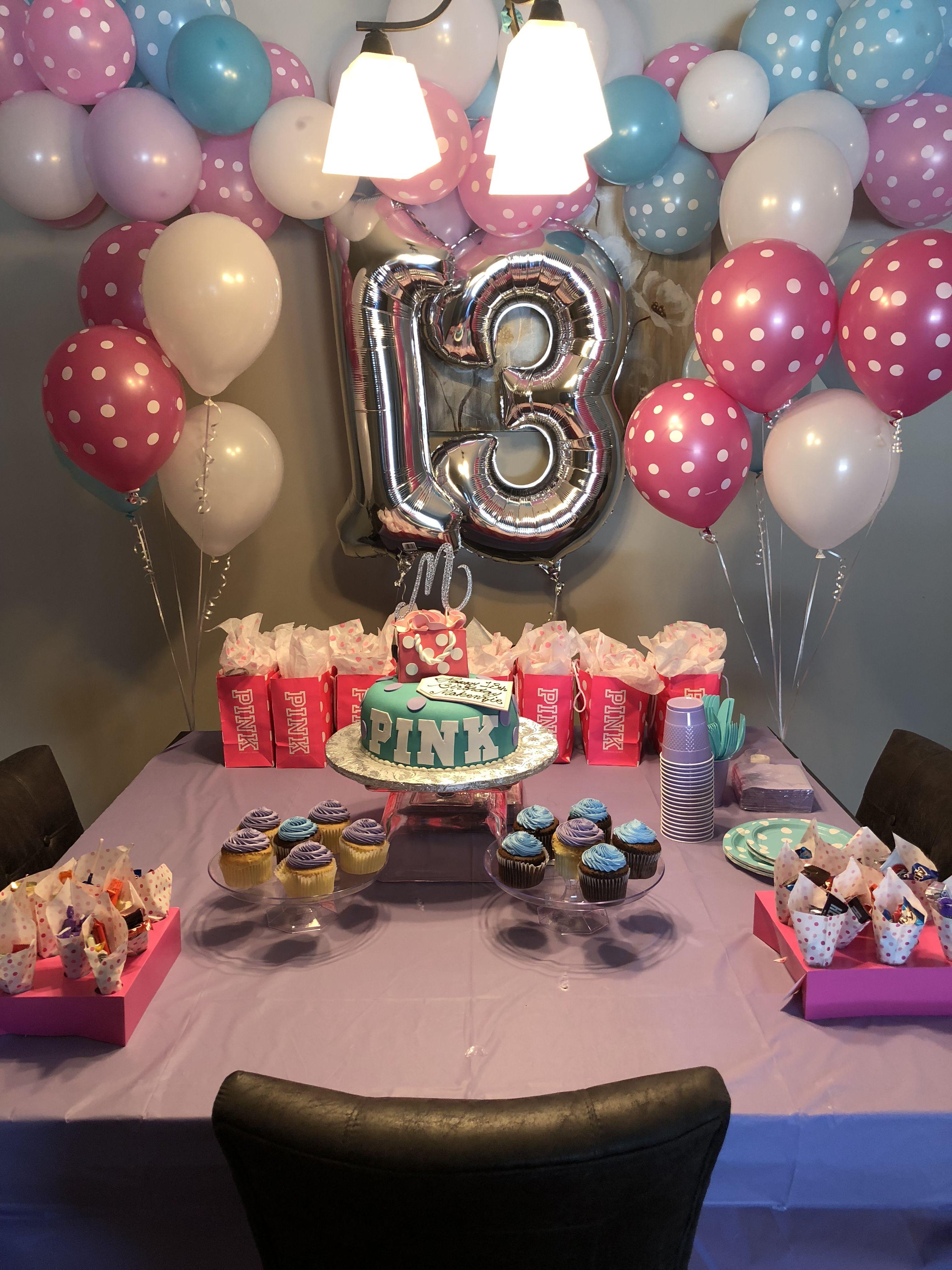 Pink Theme 13th Birthday Party 13th Birthday Parties Birthday 13th Birthday